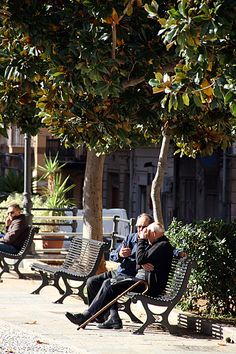 Enjoying the sunshine and companionship - #Bagheria #Sicily @ Mike Powell