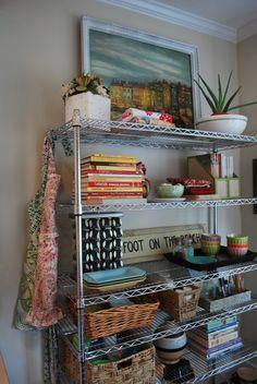 20 best food storage ideas for your pantry – Type Of Kitchen Storage Metal Kitchen Shelves, Metal Storage Shelves, Diy Kitchen Storage, Kitchen Decor, Kitchen Ideas, Wire Shelves, Storage Room, Shelf Makeover, Storage Rental