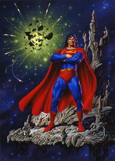 Superman Art by Joe Jusko Superman Wonder Woman, Superman Man Of Steel, Action Comics 1, Dc Comics Art, Fun Comics, Superman Art, Superman Family, Superman Stuff, Justice League