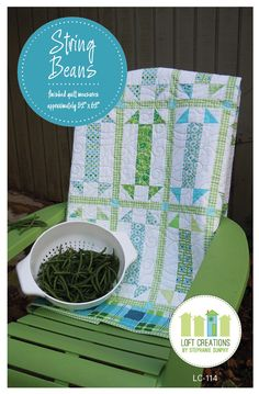 String Beans -- Quilt Pattern. $9.00, via Etsy. This is the quilt that has been labeled elongated churn dash