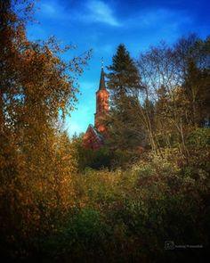 Duszniki Zdrój kościół zdrojowy jesiennie Land Scape, Country Roads, Park, Parks