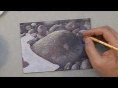 ▶ How To Paint Rocks - Acrylic Art Instruction - YouTube