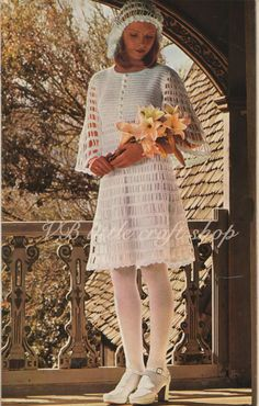 Lady's wedding dress crochet patterns. Instant PDF download! by VBlittlecraftshop on Etsy
