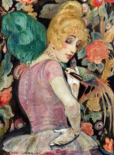 Gerda Wegener. 'Lili with a Feather Fan' 1920