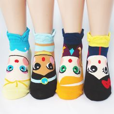 4pairs(4color)=1pack PRINCESS SOCKS Made in KOREA women woman girl big kids #MADEINKOREA #allStyle