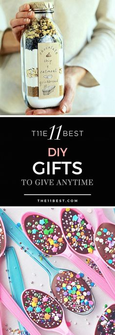 The 11 Best DIY Gifts to make ad give anytime of the year! (diy christmas crafts to sell) Jar Gifts, Food Gifts, Craft Gifts, Gift Jars, Diy Gifts To Make, Homemade Gifts, Diy Cadeau, Festa Party, Diy Party