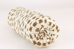 DESCRIPTION:     One Bolster Pillow Brunschwig & Fils LES TOUCHES 5 x 14 Bolster (Neck Roll) in a Medium Weight 100% Cotton in colorway Tan