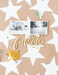 #papercrafting #scrapbook #layout idea: Favorite by marivi at @studio_calico