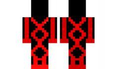minecraft skin Neon-red