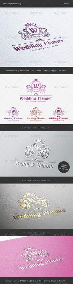 Wedding Planner Letter Crest Logo  -  PSD Template • Only available here! ➝ https://graphicriver.net/item/wedding-planner-letter-crest-logo/6271816?ref=pxcr