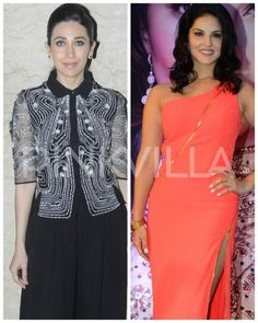 Karisma Kapoor and Sunny Leone turn on the heat as they get snapped in the city!