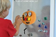 DIY Magnetic Jack-O-Lantern | Activities For Children | Do It Yourself, Magnetic play, Seasonal | Play At Home Mom