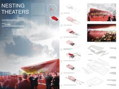 [A3N] : Pushkinsky Theater Competition / Finalist - NESTING THEATERS  Design: Natsuki Maeda (US)
