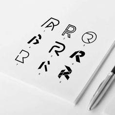 Buchstabe R Konzepte r logo - Brand Logos Logo Desing, Logo Design Template, Lettering Design, Logo Type Design, Logo Inspiration, Corporate Design, Brand Identity Design, Branding Design, Logo Branding