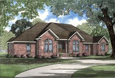 House Plan 62007 | European    Plan with 2742 Sq. Ft., 3 Bedrooms, 3 Bathrooms, 2 Car Garage