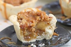 Apple Pie Cups With Cinnamon Streusel Topping :these are great with 1 change, instead of biscuits, use Pillsbury pie crust .just cut into circles and press into muffin tin