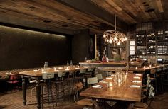 Here is another great, industrial restaurant space. Located in Venice California, Gjelina mastered the rustic, glamourous,slightly modern, and industrial feeling. -vintage, industrial, and modern feel.