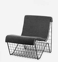 maxenrich:  Hans Theo Baumann, Chair, 1953-54.  Wire mesh with upholstery. Made for Vitra, Weil am Rhein. From the book Hans-Theo Baumann, kunst & design 1950-2010. Via Arnoldsche Art Publishers.