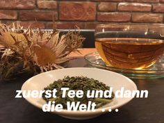 zurst eine Tasse Tee und dann die Welt. #Ritzenhof #spaindertasse Hotel Spa, How To Dry Basil, Alcoholic Drinks, Herbs, Blog, Rose, Glass, Cuppa Tea, Lenten Season