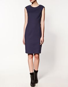 Straight Dress in purple - Zara