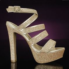 SOHO 8 NUDE by BLOSSOM is a great choice for a sassy and sparkly gold shoe! Your foot will be secure with the fashionably thick straps and you will be able to wear these shoes with a multitude of outfits. $36 promshoes.com Gold Prom Shoes, Wedding Shoes, Metallic Shoes, Bridesmaid Shoes, Take That, Fancy, Pageants, Sandals, Soho