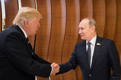 In this photo provided by the German Government Press Office (BPA) Donald Trump, President of the USA (left), meets Vladimir Putin, President of Russia (right), at the opening of the G20 summit on July 7, 2017 in Hamburg, Germany. The G20 group of nations are meeting July 7-8 and major topics will include climate change and migration.