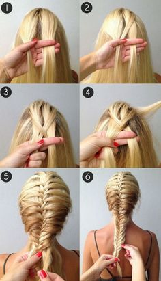 how to make a fishtail braid #french #braid #hairstyles #beautiful