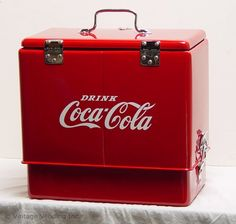 Pepsi Cooler Vintage White Airline Style