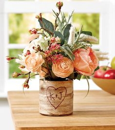 This bark wrapped vase is a great center piece or gift // Tutorial // Joann.com