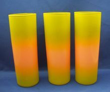 Green & Coral Painted Straight Lemonade Tumblers