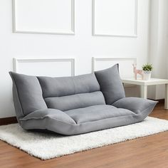 Contemporary Japanese Floor Couch & Sofa Bed 35 Newest Small Living Room Sofa Beds Apartment Ideas Floor Couch, Sofa Couch Bed, Bedroom Couch, Bedroom Wall, Floor Cushions, Cushions On Sofa, Sofa Furniture, Pallet Furniture, Office Furniture