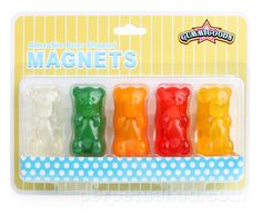 Scented gummy bear magnets