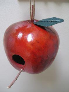 Apple birdhouse gourd