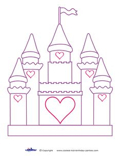 Disney World Castle Coloring Page