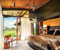 Interior designer Madeline Stuart shares how she and architect David Lake created a sublime Montana retreat.
