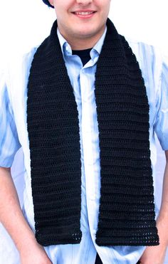Men's Scarf made with Alpaca Wool