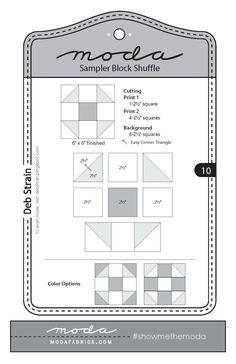 Moda Sampler Block Shuffle - Block #10 by Deb Strain.