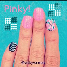 Mix and match bright colors with dark tones for a fresh look!  VIA: http://www.instagram.com/vickyvanroie  #Fingrs #NOTD #NailArt