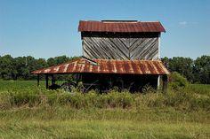 South Carolina barn - old tobacco barn, brings back memories of growing up