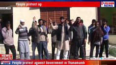 People protest against Government in Thanamandi