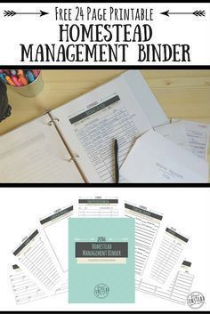 This free Urban Homestead Management Binder printable is seriously awesome for getting your homestead in order, whether you have 25 acres or .25 acres! It includes expense and income tracking pages, planning pages, and garden tracking pages!