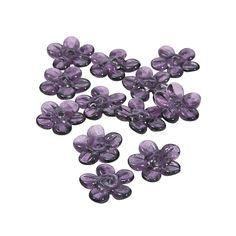 Purple Flower Lampwork Beads - 16mm - OrientalTrading.com