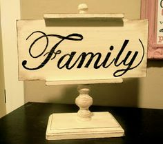 "Do you remember this picture from my last post?       Well, I have to tell you about my ""Family"" sign!  A few months ago I went to this lit..."