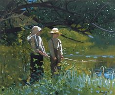 Fishing, N.D. Watercolor