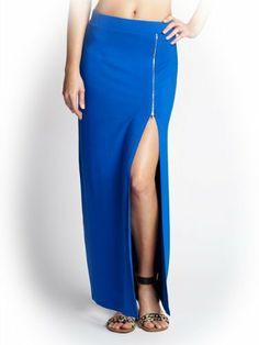G by GUESS Women's Firenze Zippered Maxi Skirt