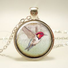 Bohemian Hummingbird Necklace, Gypsy Pendant, Boho Jewelry (1955S1IN) by rainnua on Etsy