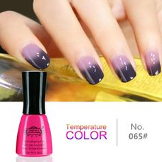 LED COLOR CHANGING NAIL POLISH CHAMELEON TEMPERATURE UV GEL LACQUER