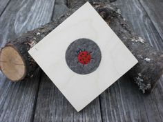 Untersetzer - Holz Untersetzer-Set 11 cm mit Wollfilz Natur - ein Designerstück…