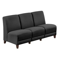 Parkside Armless Sofa in Faux Leather or Fabric - NBF Signature Series | National Business Furniture
