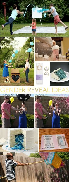 Creative Gender Reveal Ideas Ideas for the perfect gender reveal!Ideas for the perfect gender reveal! Gender Party, Baby Gender Reveal Party, Bebe Shower, Gender Announcements, Gender Reveal Announcement, Baby Girl Nursery Themes, Nursery Ideas, Gender Reveal Balloons, Gender Reveal Pinata